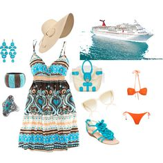 Summer Cruise Wear, created by ann1120 on Polyvore
