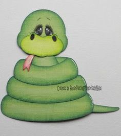 Ss is for Snake Punch Art Cards, Paper Punch, Paper Piecing Patterns, Felt Patterns, Scrapbook Paper Crafts, Scrapbook Cards, Paper Animals, Pet Rocks, Cute Friends