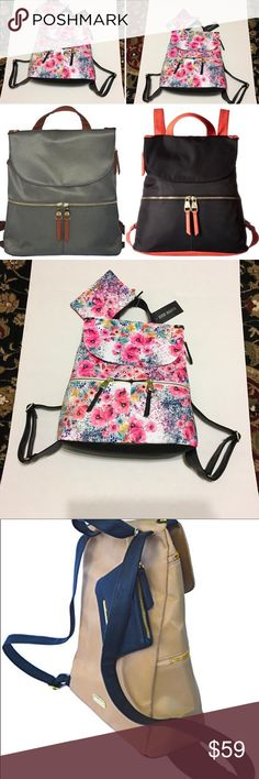 """Steve Madden Bspencer Floral Backpack bag & pouch Steve Madden Bspencer Floral Backpack bag & pouch Gorgeous multicolored poppy flowers print Excellent Choice for spring and summer outings  2 bags for price of one New with tag Top handle  Big wide zipper pull with big leather loop attached  Authentic Nylon Steve Madden with 4.5""""x 3"""" Pouch ·Top Handle with Adjustable Back Straps 16 to 20 in approximately ·Flap magnet & Zip Top Closure with Two Exterior Zipper Pockets ·Printed Nylon Lined with…"""