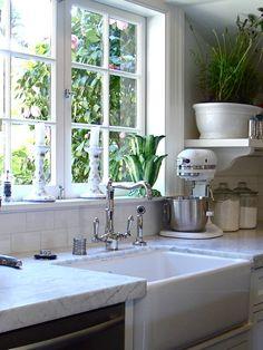 Kitchen Farm Style...love the white on white