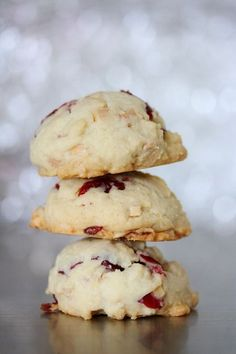 cranberry almond cookies