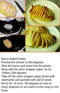 Airfry baked potato