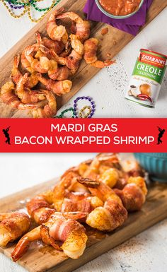 Try this super easy New Orleans-style Zesty Bacon Wrapped Shrimp appetizer with Zatarain's Creole Seasoning. Ready in just 20 minutes; it's perfect for entertaining a crowd during the Mardi Gras season! Fish Recipes, Seafood Recipes, Great Recipes, Keto Recipes, Cooking Recipes, Favorite Recipes, Healthy Recipes, Salad Recipes, Shrimp Appetizers