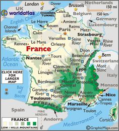 FRANCE (Famous Natives, Fast Facts, Flags, Geo.Stats, GEO, Links, Maps, Symbols, Time, Timeline, Travel Info, Weather)