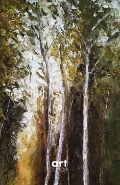 In this lesson, Peter shows you have to create a dramatic woodland scene using a painting tool that so often gets overlooked in the artist's toolbox - the palette/painting knife. Knife Painting, Painting Tools, Abstract Landscape, Landscape Paintings, Oil Painting Lessons, Forest Painting, Painting Still Life, Palette Knife, Toolbox