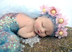 Mermaid Fairy, Baby Fairy, Baby Mermaid, Mermaid Dolls, Mermaid Board, Polymer Clay Dolls, Polymer Clay Mermaid, Clay Fairies, Clay Baby