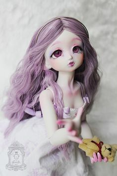 Beautiful Kyrielle by Enaibi #msd #resin #bjd #kyrielle #enaibi #purple #doll #handmade
