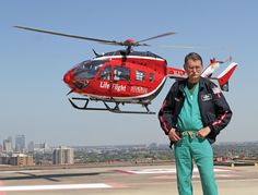 Dr. Red Duke with Memorial Hermann Life Flight. It is so cool to have a chance to work with this living legend.