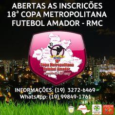 JE&M Sports: ABERTAS AS INSCRIÇÕES PARA COPA METROPOLITANA DE F...