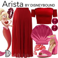 DisneyBound is meant to be inspiration for you to pull together your own outfits which work for your body and wallet whether from your closet or local mall. As to Disney artwork/properties: ©Disney Cute Disney Outfits, Disney Bound Outfits, Cute Outfits, Disney Dresses, Disney Inspired Fashion, Disney Fashion, Estilo Disney, Character Inspired Outfits, Mermaid Disney