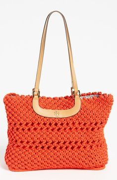 Tory Burch 'Dawson' Crocheted Tote available at #Nordstrom