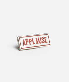 Prize Pins Applause lapel pin