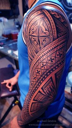 Pacific Maori tattoo shoulder, Samoan tattoo shoulder...
