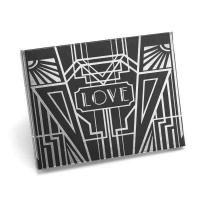 Art Deco Silver Foil Guest Book - Personalized