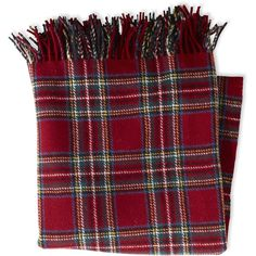 """L.L.Bean Washable Wool Throw, Plaid 54"""" X 60"""" ($89) ❤ liked on Polyvore featuring home, bed & bath, bedding, blankets, wool blanket, woven blankets, plaid throw, tartan plaid blanket and tartan wool blanket"""
