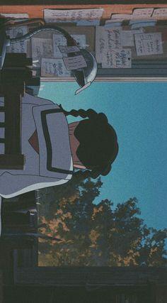 Studio Ghibli Art, Studio Ghibli Movies, Aesthetic Art, Aesthetic Anime, Studio Ghibli Background, Up On Poppy Hill, Character Illustration, Digital Illustration, Anime Scenery Wallpaper