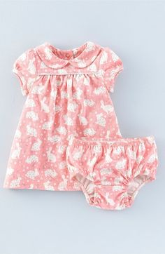 Mini Boden Bunny Print Cotton Jersey Dress (Baby Girls & Toddler Girls) available at #Nordstrom