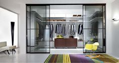 Contemporary and Masculine Walk-In Closet Design