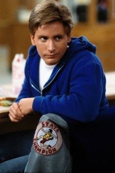 Emilio Estevez (as Andrew Clark) in The Breakfast Club (1985), My Date. I Was Going To Take A Stoll Brother But Since They Are Already Taken I Had To Improvise. My Date From The Apollo Cabin