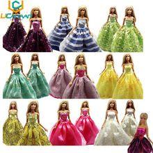 Ucanaan aléatoire choisissez Lot 5 Pcs main Party Doll robe de vêtements de mariage de princesse robe vêtements pour Barbie Doll cadeau bébé jouets(China (Mainland))