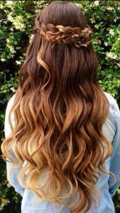 Omber wavy hair with braids #gorgeoushair