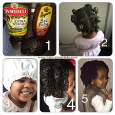 Avocado, honey and olive oil deep conditioner twistout