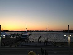 National Harbor, MD, 2013 - Sunset over the Potomac, with Alexandria across the water.
