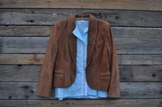 Early 1990s Brown Suede Jacket Size 14 via Etsy