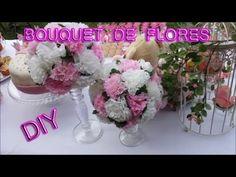 DIY Bouquet de flores com bola de isopor