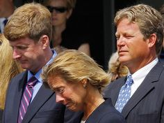 Edward Kennedy's children at his funeral.  Patrick, Kara and Edward Jr.