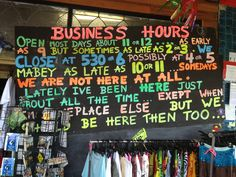 This is how they run a business in Nimbin, Australia.