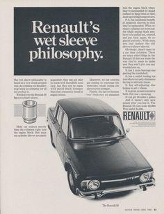 1968 Renault 10 Car Photo Ad Vintage Advertising by AdVintageCom