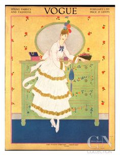 Vogue Cover - February 1915 Poster Print by Helen Dryden at the Condé Nast…