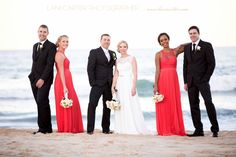 Bridal party at Twin waters beach. www.lanicarter.com