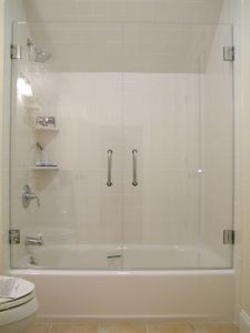 decorating ideas for a fibreglass shower tub unit by using glass doors & Ideas for Tub Enclosures   Bathroom Shower Enclosures \u0026 Shower Doors ...