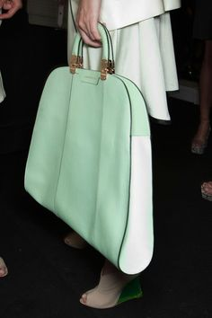 mint green briefcase
