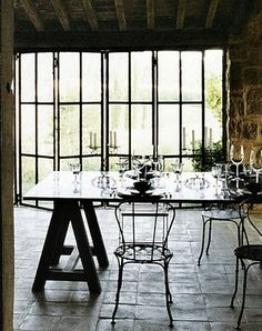Oh look at those glass folding doors!  BEAUTIFUL!