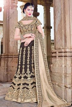 Hypnotic Black Color Designer Lehenga @ http://www.indiandesignershop.com/product/hypnotic-black-color-designer-lehenga/