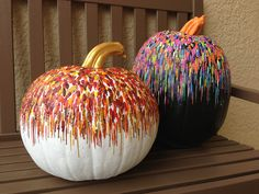 Decorated pumpkins for fall