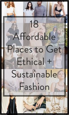The most affordable ethical and sustainable fashion on the internet!