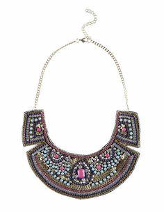 SuiteBlanco- Sequinned strass necklace