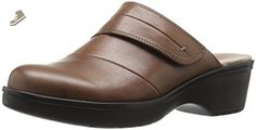 Easy Spirit Women's Pallen Mule, Dark Natural Leather, 8 E US - Easy spirit mules and clogs for women (*Amazon Partner-Link)