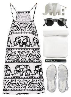 A fashion look from May 2016 featuring elephant-print dresses, shiny shoes and faux leather purses. Lily Clothing, Ask The Dust, Summer Outfits, Cute Outfits, Fashion Addict, My Outfit, Casual Looks, Polyvore Fashion, Oliver Peoples