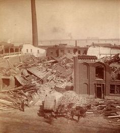 LOUISVILLE LORE: The TORNADO OF 1890. This estimated F-4 strength tornado was the worst in Louisville's history, worse than the F-4 of 1974. More than 100 people died, the structural damage was worse and the storm hit the heart of the city. (KevinR@Ky)