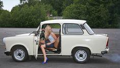 The Trabant is a car that was produced by former East German auto maker VEB Sachsenring Automobilwerke Zwickau in Zwickau, Saxony Retro Cars, Vintage Cars, Fiat 500, Lemon Car, East German Car, Ddr Brd, Carros Retro, Ifa Berlin, Volkswagen