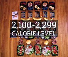 Meal Prep 2,100 - 2,299 Calorie Level