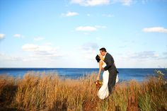 pretty landscape with in focus couple