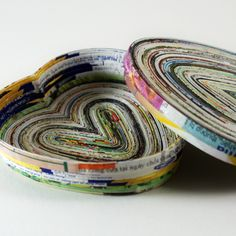 Recycled Magazine Page Craft