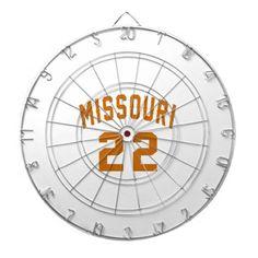 #Missouri 22 Birthday Designs Dartboard - #giftidea #gift #present #idea #number #22 #twenty-two #twentytwo #twentysecond #bday #birthday #22ndbirthday #party #anniversary #22nd