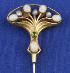 Art Nouveau Gem-set Hat Pin